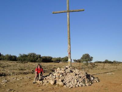 El Camino kereszt kövekkel